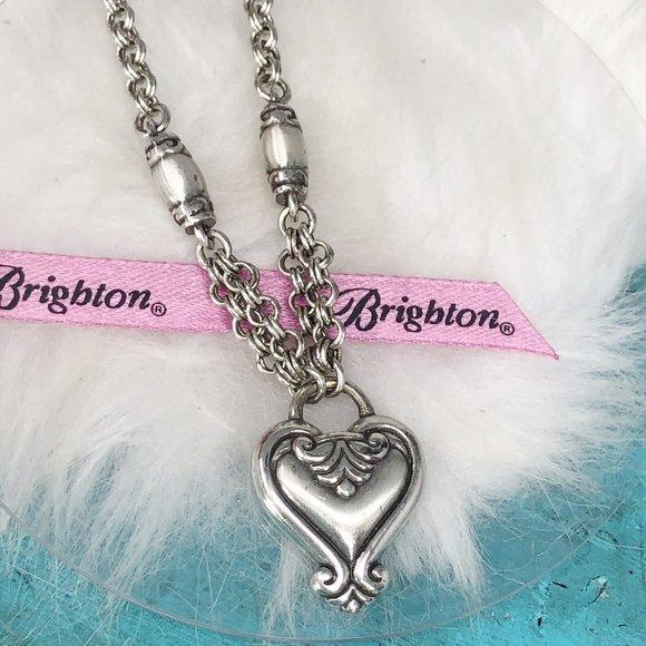 Brighton Blair Heart Silver Plate Necklace